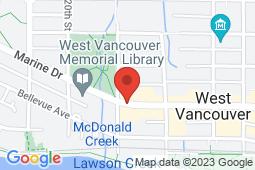 Map of 1884 Marine Drive, West Vancouver, British Columbia - Ocean Walk Medical Centre - Ocean Walk Medical Centre
