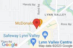 Map of #102 - 1200 Lynn Valley Road, North Vancouver, British Columbia - Lynn Valley Medical Clinic - North Shore Medical Clinics