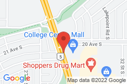 Map of 103, 2049 Mayor Magrath Dr. South, Lethbridge, Alberta - Bigelow Fowler Clinic East - Chinook Primary Care Network