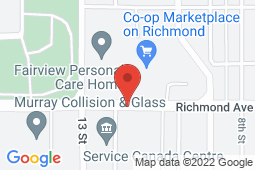 Map of 5 – 1100 Richmond Avenue, Brandon, Manitoba - Dr. Rose Farag Medical Clinic - Dr. Rose Farag Medical Clinic