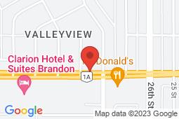 Map of 2835 Victoria Avenue, Brandon, Manitoba - Brandon Clinic West - Brandon Clinic
