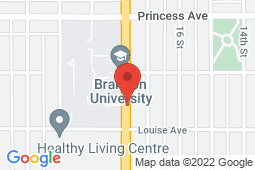 Map of 335 – 18th Street, Brandon, Manitoba - Trinity Medical Clinic Brandon - Trinity Medical Clinic Brandon