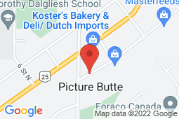 Map of 315 Jamieson Avenue, Picture Butte, Alberta - Picture Butte Family Medical Centre - Chinook Primary Care Network