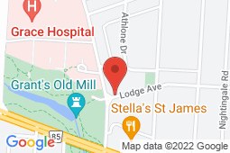Map of 633 Lodge Ave, Winnipeg, Manitoba - Assiniboine Clinic - Assiniboine Clinic