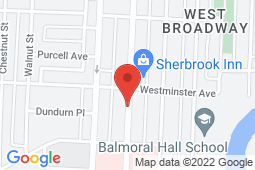 Map of 88 Sherbrook Street, Unit B, Winnipeg, Manitoba - South Sherbrook Health Centre - South Sherbrook Health Centre
