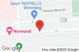 Map of 172 rue Marion, Winnipeg, Manitoba - Marion Medical Centre - Marion Medical Centre