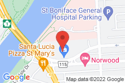 Map of A-43 Marion Street, Winnipeg, Manitoba - Norwood Walk In And Family Medical - Norwood Walk In And Family Medical