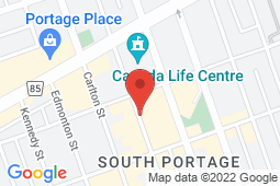 Map of 81 - 333 St. Mary Avenue, Winnipeg, Manitoba - Eaton Place Medical - Eaton Place Medical