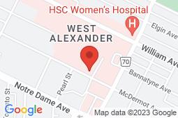 Map of 825 Sherbrook St, Winnipeg, Manitoba - Bannatyne Medical Centre - Bannatyne Medical Centre
