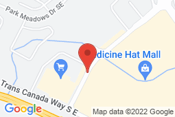 Map of 1792 Trans Canada Way SE, Medicine Hat, Alberta - Primacy Medical Clinic Medicine Hat - Primacy Medical Clinics