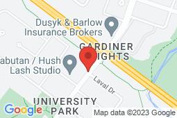 Map of 180 University Park Drive, Regina, Saskatchewan - Gateway Alliance Medical Clinic South - Gateway Alliance