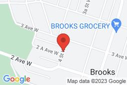 Map of 220 4th Street W, Brooks, Alberta - Newell Associate Clinic - Newell Associate Clinic