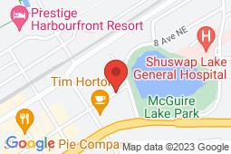 Map of 581 Hudson Avenue NE, Salmon Arm, British Columbia - Salmon Arm Medical Clinic - Salmon Arm Medical Clinic