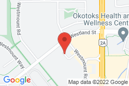 Map of 1031, 200 Southridge Drive, Okotoks, Alberta - Okotoks - Pinnacle Medical Centers