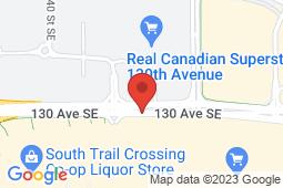 Map of 4701B 130th Ave SE, Calgary, Alberta - MCI - The Doctor's Office Deerfoot  - MCI - The Doctor's office