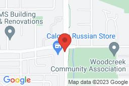 Map of 1&2 -523 Woodpark Blvd SW, Edmonton, Alberta - Woodlands Family Medical Clinic - Woodlands Family Medical Clinic