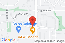 Map of 10003 24 Street S.W, Calgary, Alberta - Oakridge Medical Clinic - Oakridge Medical Clinic