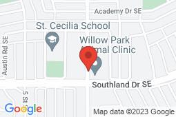Map of 202 - 580 Acadia Drive SE, Calgary, Alberta - Carewell Medical Clinic - Carewell Medical Clinic
