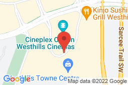 Map of 220 Stewart Green SW, Calgary, Alberta - Westhills Medicentre - Medicentres