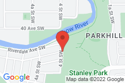 Map of 290-5255 Richmond Rd SW, Calgary, Alberta - Richmond Road Family Medical Centre - Med-Stop Medical Clinics