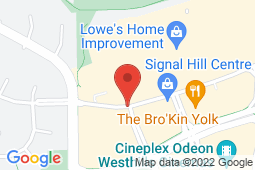 Map of 5858 Signal Hill Centre SW,, Calgary, Alberta - Rockyview Medical Clinic - Primacy Medical Clinics