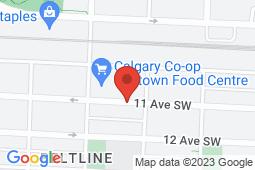 Map of 1110-11 Avenue South West, Calgary, Alberta - MCI - The Doctor's Office Midtown - MCI - The Doctor's office