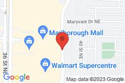 Map of 407 Marlborough Way NE, Calgary, Alberta - Memorial Walk In Clinic - Memorial Walk In Clinic