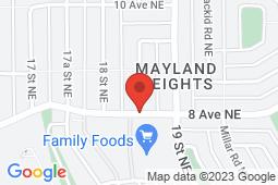 Map of 1905 8 Ave NE, Calgary, Alberta - Mayland Medical Clinic - Mayland Medical Walk-In-Clinic
