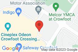 Map of 217, 150 Crowfoot Crescent NW, Calgary, Alberta - Crowfoot Corner Medicentre - Medicentres