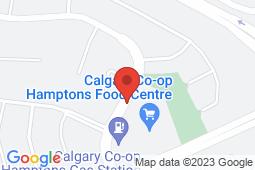 Map of #500, 1000 Hamptons Drive NW, Calgary, Alberta - Hamptons - Pinnacle Medical Centers