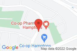 Map of 1000 Hamptons Dr NW, Calgary, Alberta - Co-op Health Clinic - Co-op Health Clinic