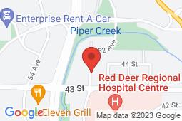 Map of 101-4309 52 Avenue, Red Deer, Alberta - Ebenezar Medical And Walk-in Clinic - Ebenezar Medical And Walk-in Clinic