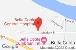Map of 1025 Elcho Street, Bella Coola, British Columbia - Bella Coola General Hospital - Northern Health Authority
