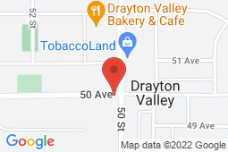Map of 5004 50th Ave, Drayton Valley, Alberta - Shale Medical Clinic - Shale Medical Clinic