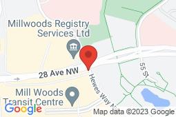 Map of 103-6203 28 Ave NW, Edmonton, Alberta - Mill Woods Family Medical Clinic - Mill Woods Family Medical Clinic