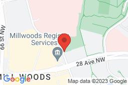 Map of 6426-28 Avenue NW, Edmonton, Alberta - Millwoods Medicentre - Medicentres