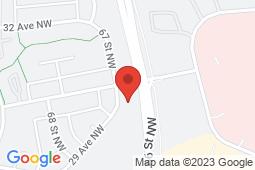 Map of 3015 - 66 Street, Edmonton, Alberta - Tawa Medical Centre - Tawa Medical Centre