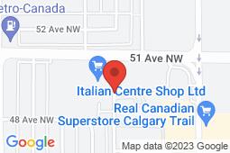 Map of Trail South 51st Ave, Edmonton, Alberta - DX Medical Centres Trail South - DX Medical Centres Inc