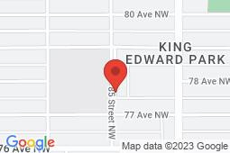 Map of 7711 - 85 Street, Edmonton, Alberta - King Edward Medical Center - King Edward Medical Center