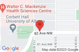 Map of 11162 82 Ave NW, Edmonton, Alberta - Manga Medical Clinic - Magna Medical Clinic