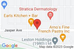 Map of 11807 Jasper Avenue NW, Edmonton, Alberta - Downtown Medicentre - Medicentres