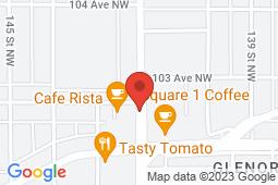 Map of 10232 - 142 Street NW, Edmonton, Alberta - Westgrove Medicentre - Medicentres