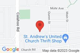 Map of 102A-505 Queen Street, Spruce Grove, Alberta - QSMM Queen Street Medical Clinic - Queen Street Medical Management Group