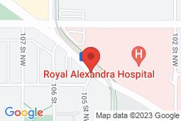 Map of 102, 10507 Kingsway Avenue NW, Edmonton, Alberta - Kingsway Medicentre - Medicentres