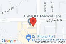 Map of 2903 - 137 Avenue NW, Edmonton, Alberta - Belmont Medicentre - Medicentres