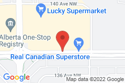 Map of 12350 137 Ave NW, Edmonton, Alberta - All Healthy Medical Clinic - Primacy Medical Clinics