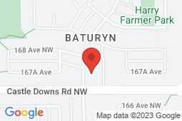 Map of 16729 - 100 Street, Edmonton, Alberta - Blue Spruce Medical Centre - Blue Spruce Medical Centre