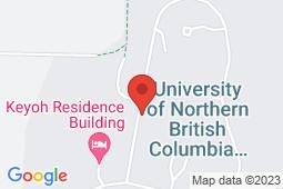 Map of 3333 University Way, Prince George, British Columbia - University of Northern British Columbia Wellness Centre - University of Northern British Columbia Wellness Centre