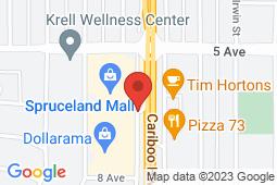 Map of 761 Central Street W, Prince George, British Columbia - Nechako Medical Clinic - Nechako Medical Clinic