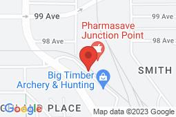 Map of Suite 201, 9625 – 97 Street, Grande Prairie, Alberta - Primecare Health Grande Prairie - Prime Care Health